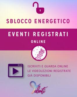 Sblocchi Energetici Eventi Registrati